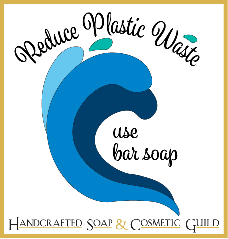 Reduce plastic waste, use bar soap logo